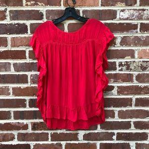 Velvet by Graham & Spencer Top Red Large
